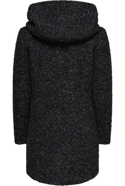 Only Only 15156588 Kadın Onlaıda Long Hooded Coat Cc Otw Mont Black