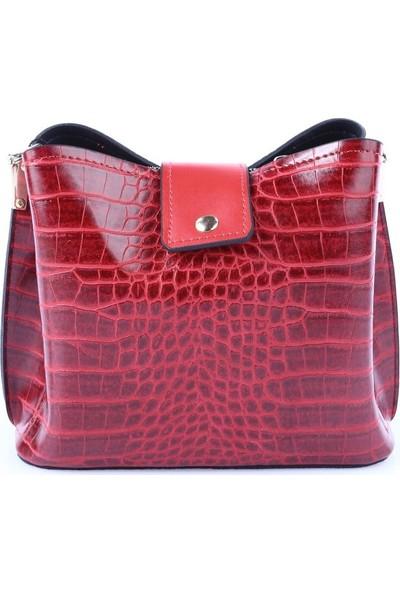 Viva 5340 Kadın Çanta Kırmızı Kroko