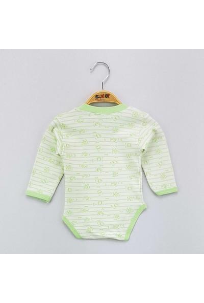 Toontoy Unisex Bebek Alttan Çıtçıtlı Body