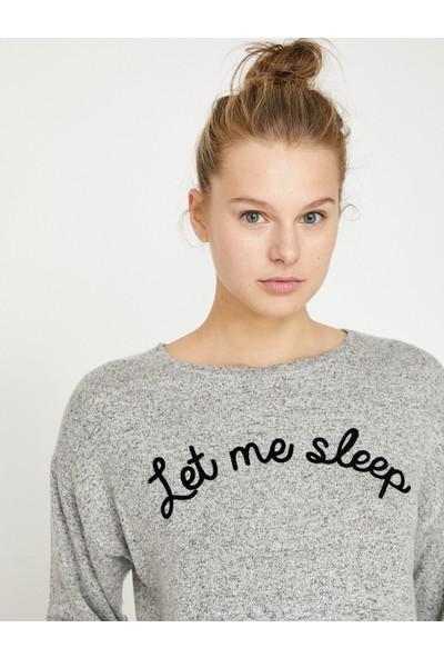 Koton Kadın Yazılı Baskılı Pijama Üstü