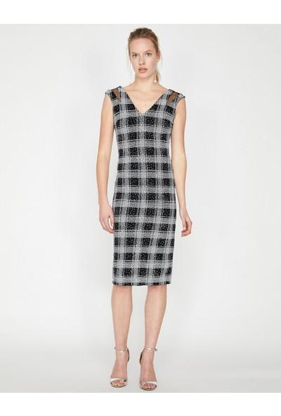 Koton Kadın Kareli Elbise