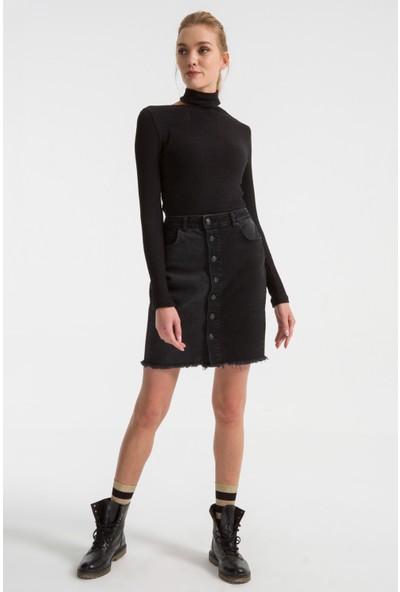 LTB Rossa Skirt Mix Black Wash Kadın Etek
