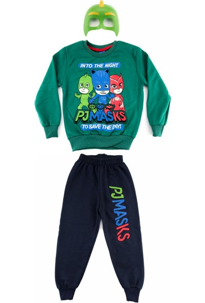Bebebebek Pijamaskeliler Kertenkele Erkek Çocuk Eşofman Takımı - Yeşil