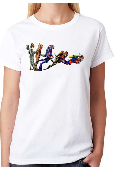 Scubapromo Dalıcı Evrimi Bayan Dalış Tişört