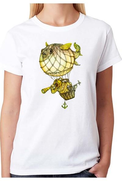 Scubapromo Balon Balığı Bayan Dalış Tişört