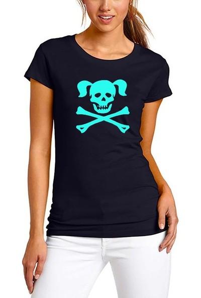 Scubapromo Scull Girl Scuba Dalış Tişört