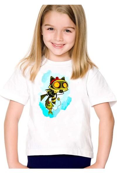 Scubapromo Dalgıç Kediı Kız Çocuk Tişört