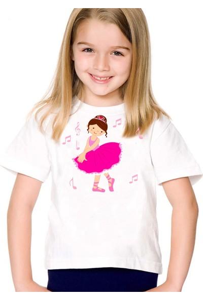 Scubapromo Minik Balerin Kız Çoçuk Tişört