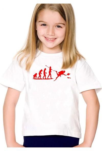 Scubapromo Dalıcı Evrimi Kız Çocuk Tişört