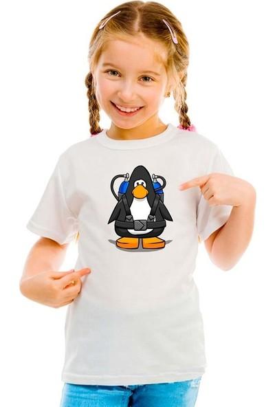 Scubapromo Scuba Penguen Kız Çocuk Tişört