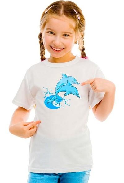Scubapromo Yunuslar Kız Çocuk Tişört