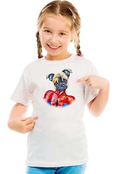 Scubapromo Örümcek Pug Kız Çocuk Tişört