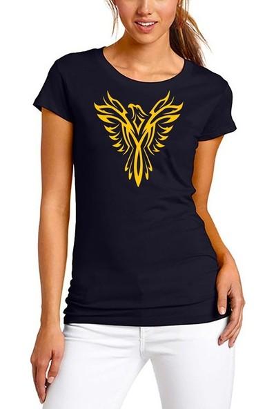 Scubapromo Phoenix Siyah Bayan Tişört