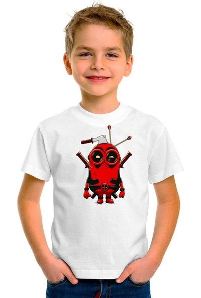 Scubapromo Minion Deadpool Erkek Çocuk Tişört