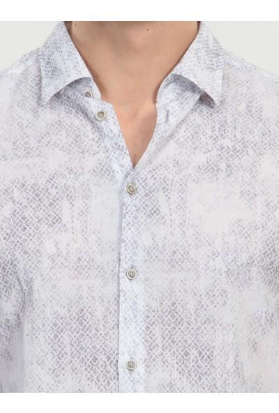 KİP Baskılı Dokuma Uzun Kollu Gömlek