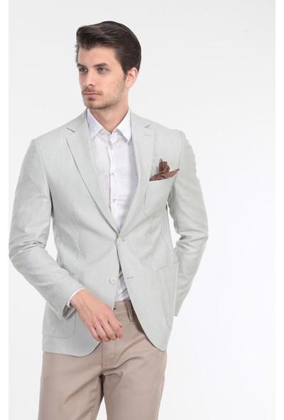 KİP Desenli Dokuma Ceket