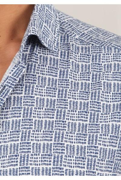 Ramsey Fitted Fit Casual Uzun Kollu Gömlek