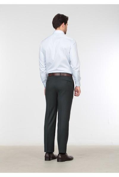 Ramsey Pilesiz Düz Dokuma Pantolon