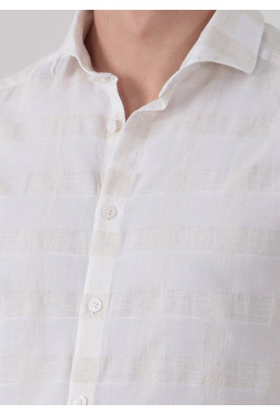 Ramsey Kareli Dokuma Uzun Kollu Gömlek