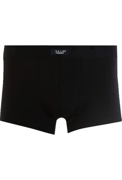 Sajja Erkek Underwear 3'Lü Siyah Boxer