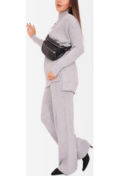 Manila Kadın Örme Bol Pantolon