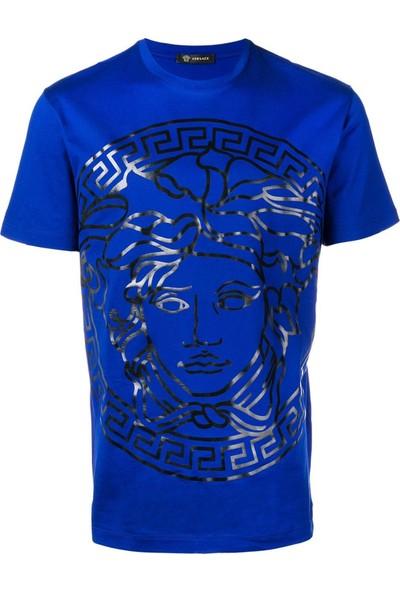 Guice Paris Medusa Head Embossed Model Bayan T-Shirt