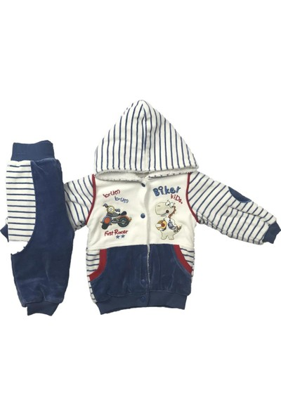 Erkek Bebek 2li Takım Kışlık Pantolon Hırka İndigo Bestido 3209