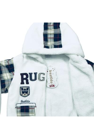 Erkek Bebek 2li Takım Kışlık Pantolon Sweatshirt Beyaz