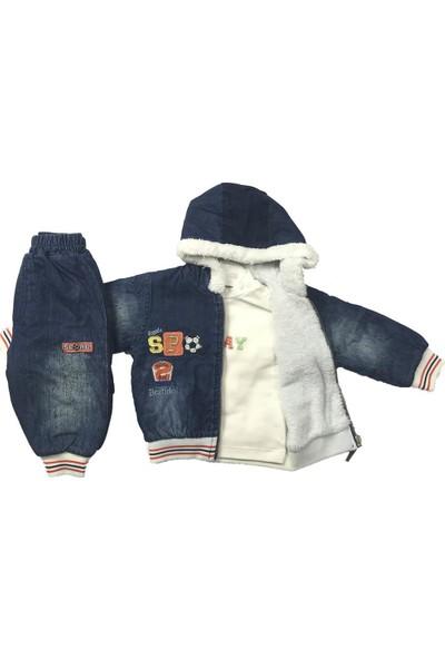 Erkek Bebek 3lü Takım Kışlık Pantolon Badi Mont Bestido 5034