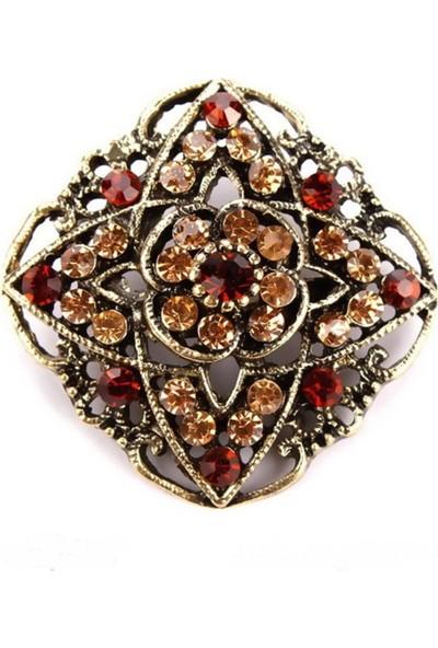 VipBT Retro Kristal Antik Broş 632