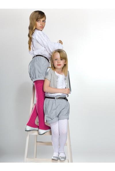 Gabriella Suzi Beyaz Desenli Çocuk Çorabı g744