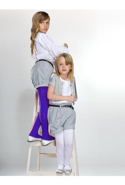 Gabriella Suzi Mor Desenli Çocuk Çorabı g744