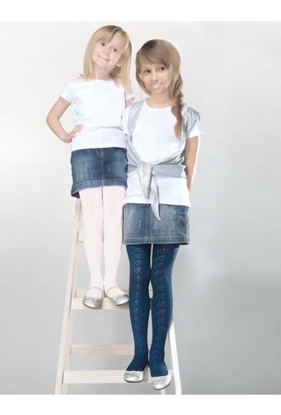 Gabriella Tosia Beyaz Desenli Çocuk Çorabı g746