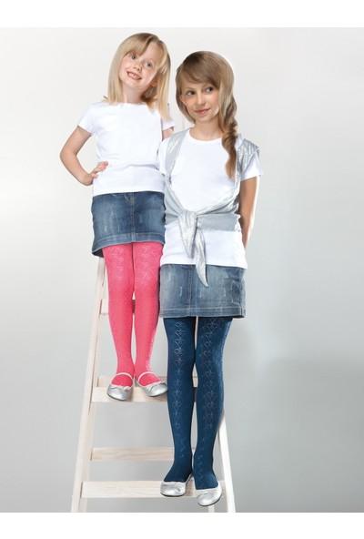 Gabriella Tosia Koyu Mavi Desenli Çocuk Çorabı g746