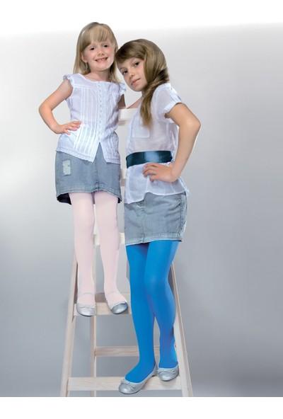 Gabriella Mela Beyaz Fitilli Çocuk Çorabı g747
