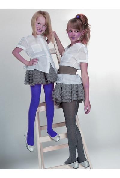 Gabriella Melange Koyu Mavi Çocuk Çorabı g751