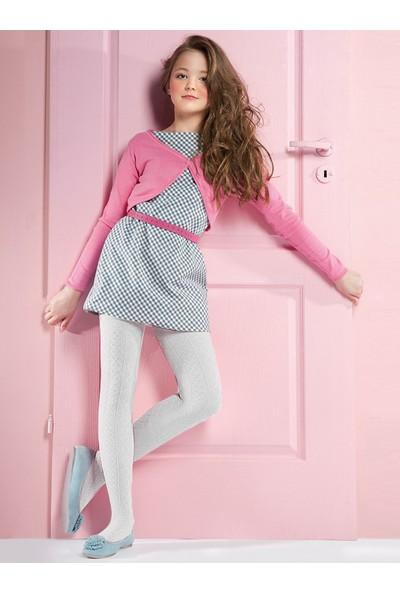 Gabriella Fifi Beyaz Desenli Çocuk Çorabı g755