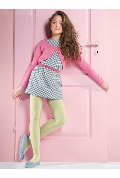 Gabriella Fifi Krem Renk Desenli Çocuk Çorabı ecri
