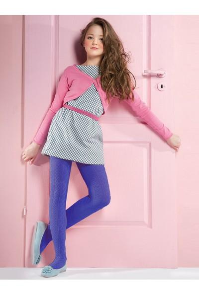 Gabriella Fifi Koyu Mavi Desenli Çocuk Çorabı g755