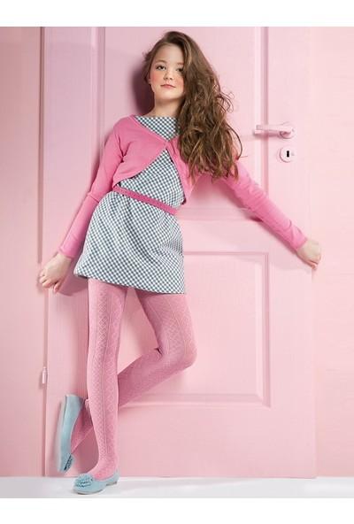 Gabriella Fifi Pembe Desenli Çocuk Çorabı g755