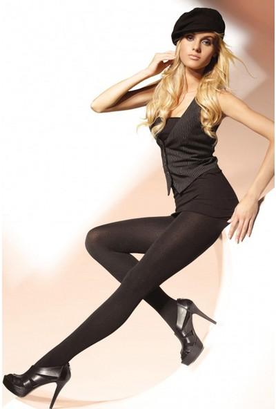 Gatta 600 Den Micro Fiber Polar Siyah Külotlu Çorap Rosalia 600
