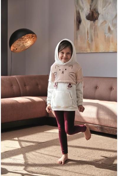 Anıl Kız Çocuk Sweatshirt Tayt Takım An6343
