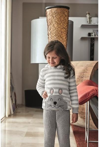 Anıl Kız Çocuk Sweatshirt Pijama Takım An6347