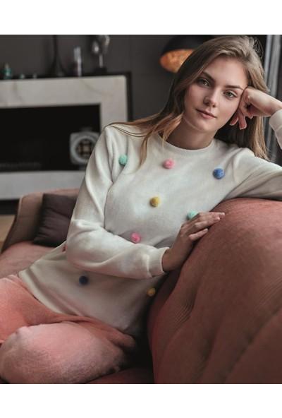 Anıl Kadın Sweatshirt Pijama Takım An9547