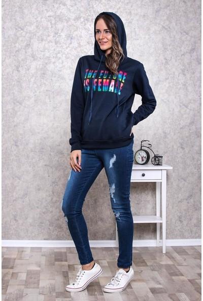 Kadın Kapüşonlu Sweatshirt De008