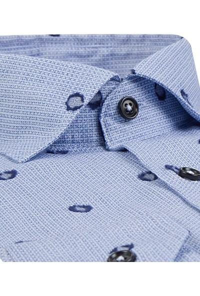 D's Damat Comfort Mavi Gömlek