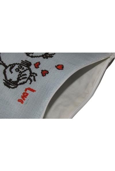 Pafuli El Yapımı Nakış İşlemeli Clutch Çanta Sevgililer Mint