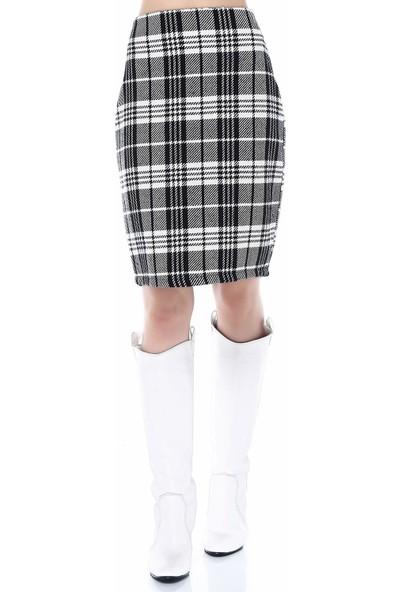 Sense 31776 Kruvaze Yaka Eteği Parçalı Kadife Elbise