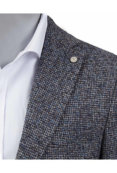 D's Damat Regular Fit Mavi Ceket Kumaş
