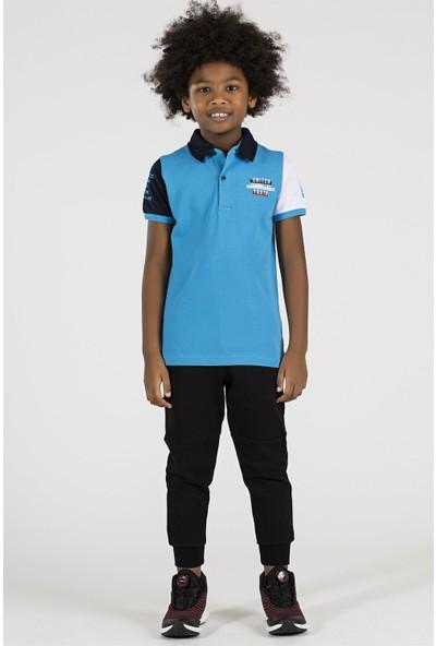 Tommy Life Kol Garnili Koyu Mavi Çocuk Polo Tshirt